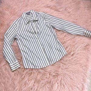 Black/White stripe No iron button down. Size 12